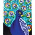 Deco art social arwork painting patroon  Proud as a Peacock