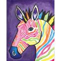 Deco art social arwork painting patroon  Electric Zebra