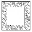 Zentangled Flower Square