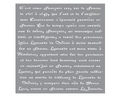 Sjablonen Decor Stencils Old French Script