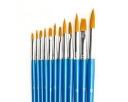 Artist Brush Set (6x plat, 6x rond)