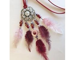 Dreamcatcher ketting Pakket bordeaux