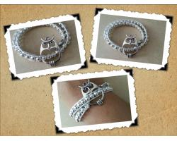 Wrapped armband met uiltje